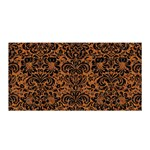 DAMASK2 BLACK MARBLE & RUSTED METAL Satin Wrap Front