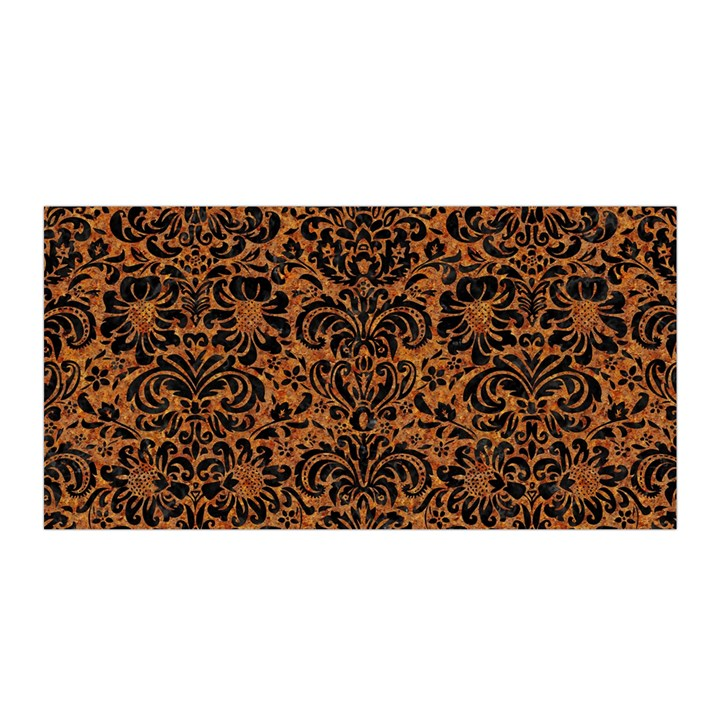 DAMASK2 BLACK MARBLE & RUSTED METAL Satin Wrap