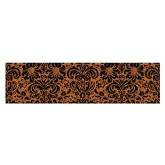 Damask2 Black Marble & Rusted Metal Satin Scarf (oblong)