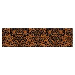 DAMASK2 BLACK MARBLE & RUSTED METAL Satin Scarf (Oblong) Front