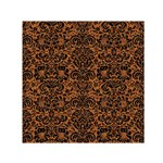 DAMASK2 BLACK MARBLE & RUSTED METAL Small Satin Scarf (Square) Front