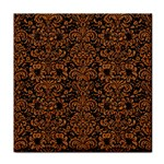DAMASK2 BLACK MARBLE & RUSTED METAL (R) Tile Coasters Front