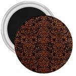 DAMASK2 BLACK MARBLE & RUSTED METAL (R) 3  Magnets Front