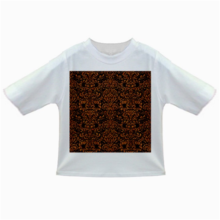 DAMASK2 BLACK MARBLE & RUSTED METAL (R) Infant/Toddler T-Shirts
