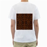 DAMASK2 BLACK MARBLE & RUSTED METAL (R) Men s T-Shirt (White) (Two Sided) Back
