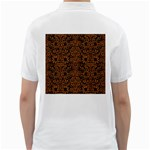 DAMASK2 BLACK MARBLE & RUSTED METAL (R) Golf Shirts Back