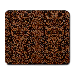 Damask2 Black Marble & Rusted Metal (r) Large Mousepads