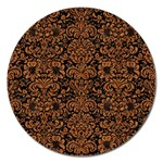 DAMASK2 BLACK MARBLE & RUSTED METAL (R) Magnet 5  (Round) Front