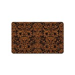 DAMASK2 BLACK MARBLE & RUSTED METAL (R) Magnet (Name Card) Front