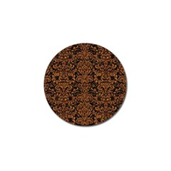 Damask2 Black Marble & Rusted Metal (r) Golf Ball Marker (4 Pack)
