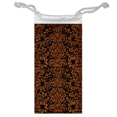 Damask2 Black Marble & Rusted Metal (r) Jewelry Bag