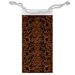 DAMASK2 BLACK MARBLE & RUSTED METAL (R) Jewelry Bag Front