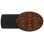 DAMASK2 BLACK MARBLE & RUSTED METAL (R) USB Flash Drive Oval (4 GB) Front