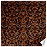 DAMASK2 BLACK MARBLE & RUSTED METAL (R) Canvas 16  x 16   16 x16 Canvas - 1