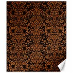 DAMASK2 BLACK MARBLE & RUSTED METAL (R) Canvas 20  x 24   24 x20 Canvas - 1