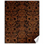 DAMASK2 BLACK MARBLE & RUSTED METAL (R) Canvas 11  x 14   14 x11 Canvas - 1