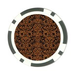 DAMASK2 BLACK MARBLE & RUSTED METAL (R) Poker Chip Card Guard Back