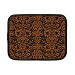 DAMASK2 BLACK MARBLE & RUSTED METAL (R) Netbook Case (Small)  Front