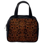 DAMASK2 BLACK MARBLE & RUSTED METAL (R) Classic Handbags (One Side) Front