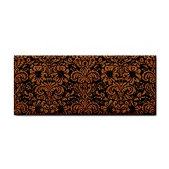 Damask2 Black Marble & Rusted Metal (r) Cosmetic Storage Cases