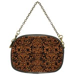 DAMASK2 BLACK MARBLE & RUSTED METAL (R) Chain Purses (Two Sides)  Front