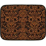 DAMASK2 BLACK MARBLE & RUSTED METAL (R) Double Sided Fleece Blanket (Mini)  35 x27 Blanket Front