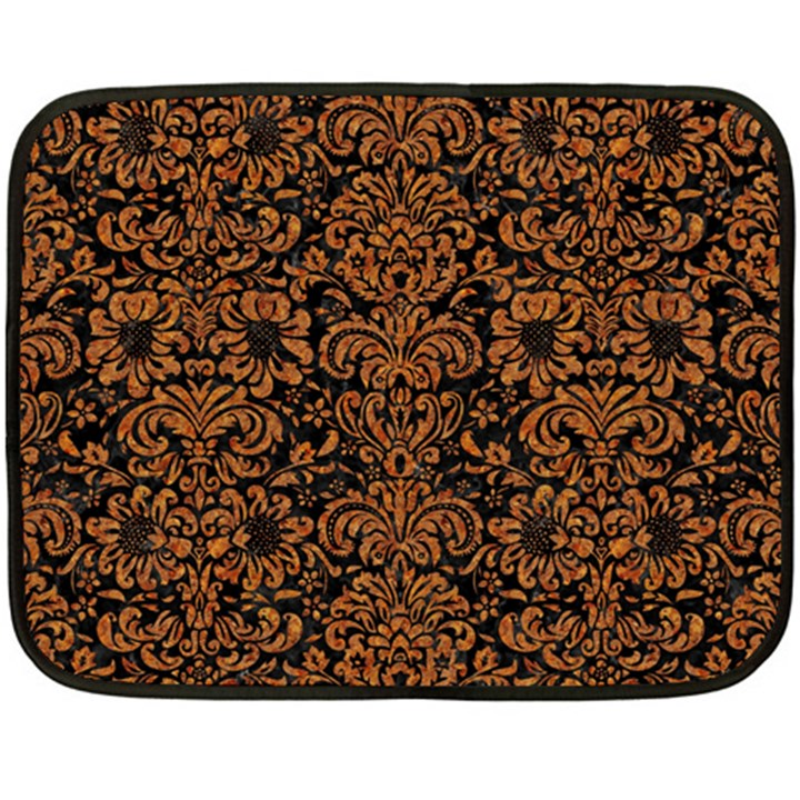 DAMASK2 BLACK MARBLE & RUSTED METAL (R) Double Sided Fleece Blanket (Mini)