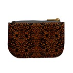 DAMASK2 BLACK MARBLE & RUSTED METAL (R) Mini Coin Purses Back