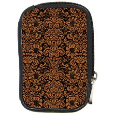 Damask2 Black Marble & Rusted Metal (r) Compact Camera Cases