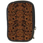 DAMASK2 BLACK MARBLE & RUSTED METAL (R) Compact Camera Cases Front