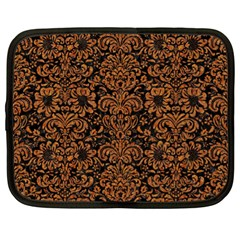 Damask2 Black Marble & Rusted Metal (r) Netbook Case (xl)