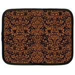 DAMASK2 BLACK MARBLE & RUSTED METAL (R) Netbook Case (XL)  Front