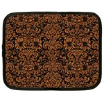 DAMASK2 BLACK MARBLE & RUSTED METAL (R) Netbook Case (XXL)  Front