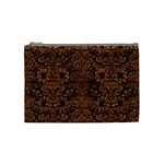 DAMASK2 BLACK MARBLE & RUSTED METAL (R) Cosmetic Bag (Medium)  Front