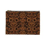 DAMASK2 BLACK MARBLE & RUSTED METAL (R) Cosmetic Bag (Large)  Front