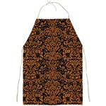 DAMASK2 BLACK MARBLE & RUSTED METAL (R) Full Print Aprons Front
