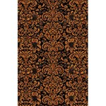 DAMASK2 BLACK MARBLE & RUSTED METAL (R) 5.5  x 8.5  Notebooks Back Cover