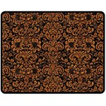 DAMASK2 BLACK MARBLE & RUSTED METAL (R) Fleece Blanket (Medium)  60 x50 Blanket Front