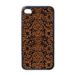 DAMASK2 BLACK MARBLE & RUSTED METAL (R) Apple iPhone 4 Case (Black) Front