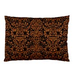 DAMASK2 BLACK MARBLE & RUSTED METAL (R) Pillow Case (Two Sides) Front