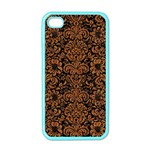 DAMASK2 BLACK MARBLE & RUSTED METAL (R) Apple iPhone 4 Case (Color) Front