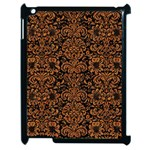 DAMASK2 BLACK MARBLE & RUSTED METAL (R) Apple iPad 2 Case (Black) Front