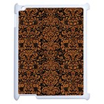 DAMASK2 BLACK MARBLE & RUSTED METAL (R) Apple iPad 2 Case (White) Front