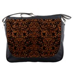 DAMASK2 BLACK MARBLE & RUSTED METAL (R) Messenger Bags Front