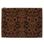 DAMASK2 BLACK MARBLE & RUSTED METAL (R) Cosmetic Bag (XXL)  Front