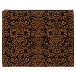 DAMASK2 BLACK MARBLE & RUSTED METAL (R) Cosmetic Bag (XXXL)  Front
