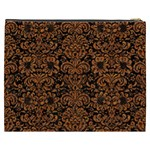 DAMASK2 BLACK MARBLE & RUSTED METAL (R) Cosmetic Bag (XXXL)  Back
