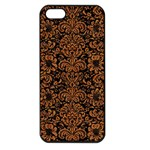 DAMASK2 BLACK MARBLE & RUSTED METAL (R) Apple iPhone 5 Seamless Case (Black) Front