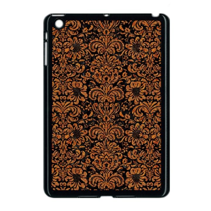 DAMASK2 BLACK MARBLE & RUSTED METAL (R) Apple iPad Mini Case (Black)