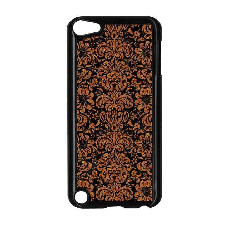 DAMASK2 BLACK MARBLE & RUSTED METAL (R) Apple iPod Touch 5 Case (Black)